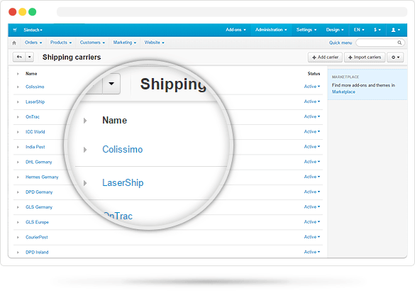 Custom Shipment Carriers & Tracking Number Process CS-Cart Premium Add-on  by Hungryweb